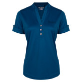 Ladies Ogio Indigo Blue Fashion Henley-St Johns