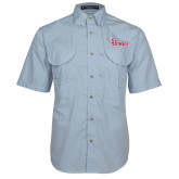 Light Blue Short Sleeve Performance Fishing Shirt-St Johns