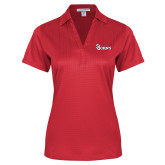 Ladies Red Performance Fine Jacquard Polo-St Johns