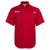 Columbia Bonehead Red Short Sleeve Shirt-St Johns