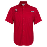 Columbia Bonehead Red Short Sleeve Shirt-SJ Redstorm Stacked