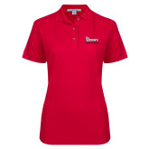 Ladies Easycare Red Pique Polo-St Johns Red Storm