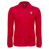 Fleece Full Zip Red Jacket-SJ Redstorm Stacked