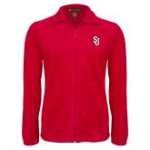 Fleece Full Zip Red Jacket-SJ