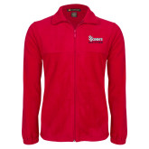 Fleece Full Zip Red Jacket-St Johns Red Storm