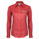 Ladies Red House Red Long Sleeve Shirt-St Johns