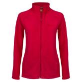 Ladies Fleece Full Zip Red Jacket-St Johns