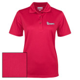 Ladies Red Dry Mesh Polo-St Johns