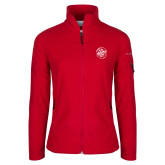 Columbia Ladies Full Zip Red Fleece Jacket-We are New Yorks Team