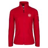 Columbia Ladies Full Zip Red Fleece Jacket-We are New Yorks Team