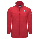 Columbia Full Zip Red Fleece Jacket-SJ Redstorm Stacked