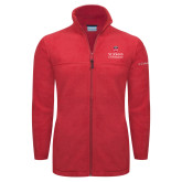 Columbia Full Zip Red Fleece Jacket-University Mark Stacked