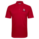 Red Textured Saddle Shoulder Polo-SJ Redstorm Stacked