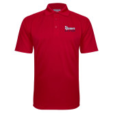 Red Textured Saddle Shoulder Polo-St Johns Red Storm