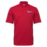 Red Mini Stripe Polo-St Johns Red Storm