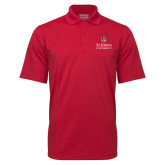 Red Mini Stripe Polo-University Mark Stacked