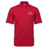 Red Mini Stripe Polo-University Mark Stacked