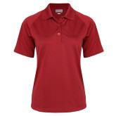 Ladies Red Textured Saddle Shoulder Polo-St Johns