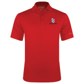 Columbia Red Omni Wick Drive Polo-SJ Redstorm Stacked
