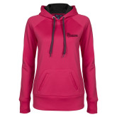 Ladies Pink Raspberry Tech Fleece Hoodie-St Johns