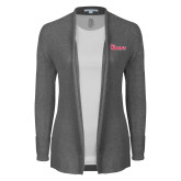 Ladies Heather Grey Open Front Cardigan-St Johns