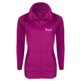Ladies Sport Wick Stretch Full Zip Deep Berry Jacket-St Johns