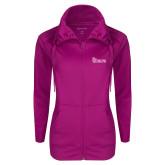 Ladies Sport Wick Stretch Full Zip Deep Berry Jacket-St Johns