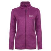 Dark Pink Heather Ladies Fleece Jacket-St Johns