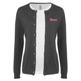 Ladies Charcoal Cardigan-St Johns