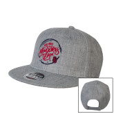 Heather Grey Wool Blend Flat Bill Snapback Hat-We are New Yorks Team