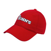 Red Twill Unstructured Low Profile Hat-St Johns
