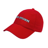 Red Twill Unstructured Low Profile Hat-Red Storm