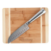 Oneida Cutting Board and Santoku Knife Set-St Johns Engraved