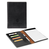 Fabrizio Junior Black Padfolio-University Mark Stacked Engraved