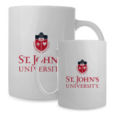 Full Color White Mug 15oz-University Mark Stacked