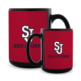 Full Color Black Mug 15oz-SJ Redstorm Stacked