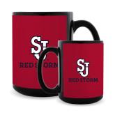 Full Color Black Mug 15oz-SJ Redstorm Stacked