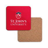 Hardboard Coaster w/Cork Backing-University Mark Stacked