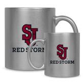 11oz Silver Metallic Ceramic Mug-SJ Redstorm Stacked