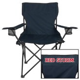 Deluxe Navy Captains Chair-Red Storm