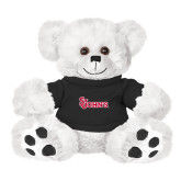 Plush Big Paw 8 1/2 inch White Bear w/Black Shirt-St Johns