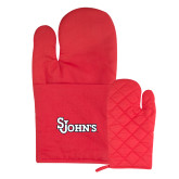 Quilted Canvas Red Oven Mitt-St Johns