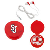 Ear Buds in Red Case-SJ