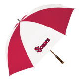 62 Inch Red/White Vented Umbrella-St Johns