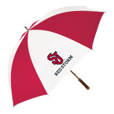 62 Inch Red/White Vented Umbrella-SJ Redstorm Stacked