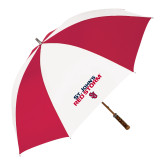 62 Inch Red/White Vented Umbrella-St Johns Red Storm Stacked