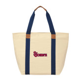 Natural/Navy Saratoga Tote-St Johns