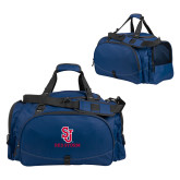 Challenger Team Navy Sport Bag-SJ Redstorm Stacked