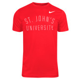 Ladies NIKE Legend Red Short Sleeve T Shirt-