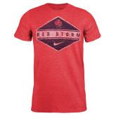 NIKE Tri Blend Heather Red T Shirt-